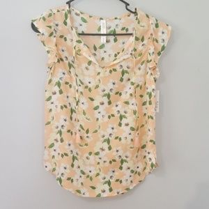 NWT  Gilligan and O'Malley Size XS Peach PJ Top